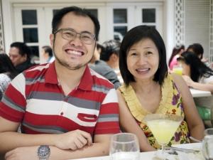 My brother with Tita Lulu