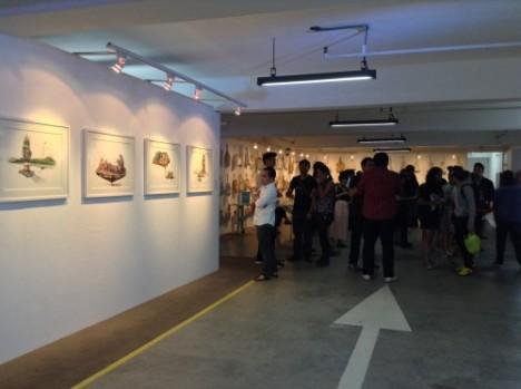 Carpark turned gallery