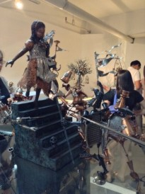 Alice in Wonderland metal sculpture