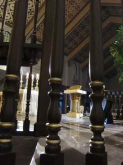 View from the back of the altar