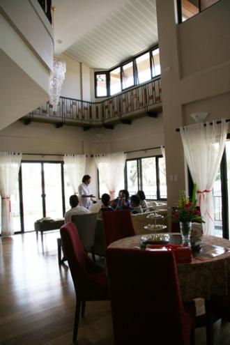 View from the kitchen door