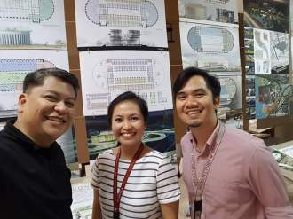 In the AD8 Competition Plate room. The curators (Ar. Armel Bonifacio and myself) with our Mentor Ar. Manalad
