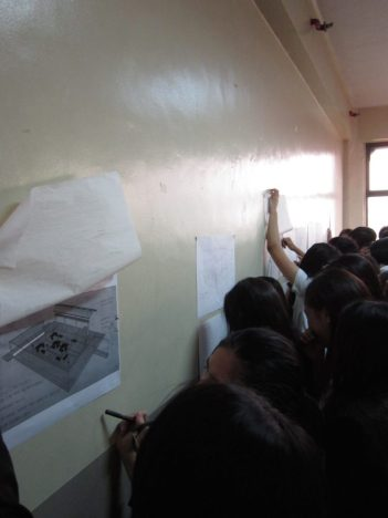 Pin-up day for their Final Proposals for UST