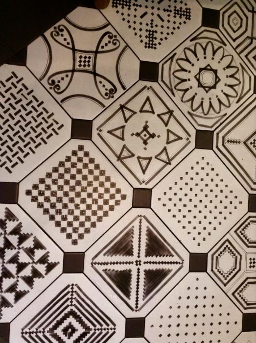 Hand-drawn tiles